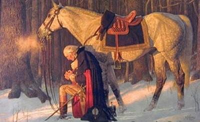 George Washington in prayer
